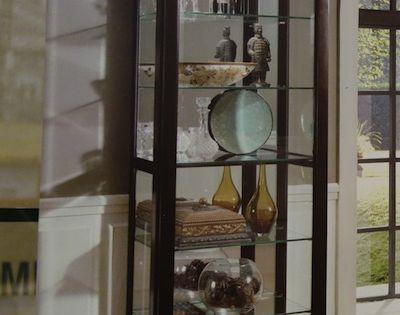 pulaski cambridge sliding door curio cabinet costco