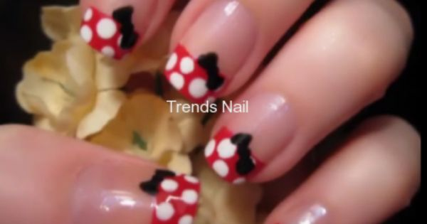 Mini mouse nail art design cutepolish