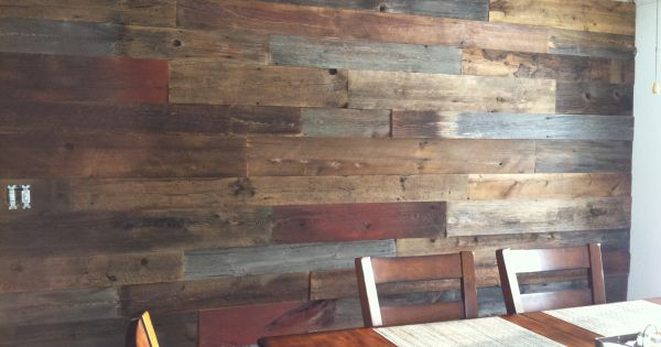 Reclaimed wood processed barn siding for accent wall for Barn wood salvage companies