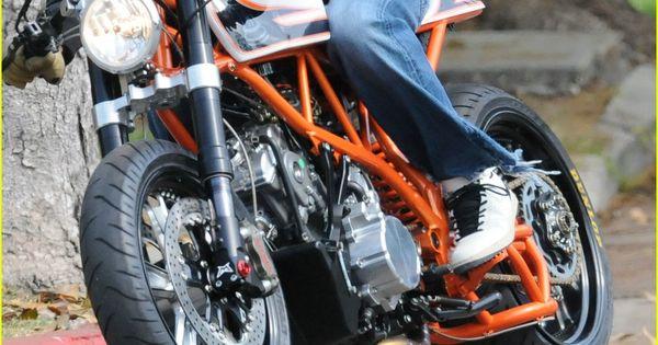 Brad Pitt's custom KTM.