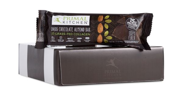 Dark Chocolate Almond Bar With Grass Fed Collagen Dark Chocolate Almonds Almond Bars Dark Chocolate