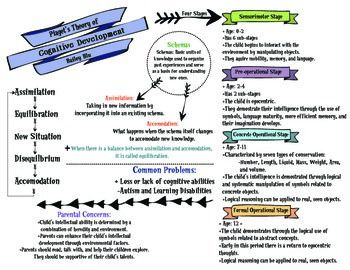Piaget S Theory Of Cognitive Development Graphic Organizer Cognitive Development Graphic Organizers Piaget Theory