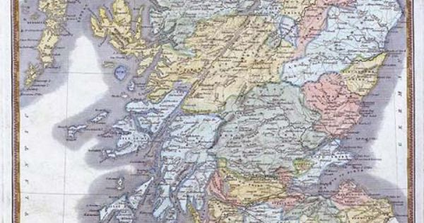 Full Page Map of Scotland | Map of Scotland - c.1830 ...