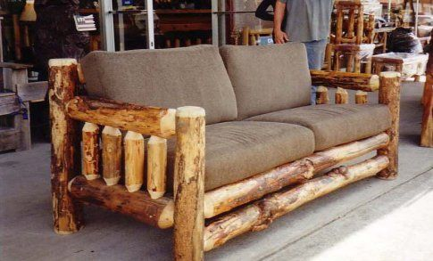 Rustic Sofas Log Sofa As Shown