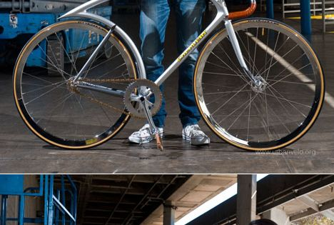Silver Flyer Track Bike - Tokyo-based Shinichi Konno designs bicycles with flow.