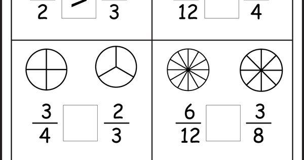 Comparing Fractions Worksheets 3rd Grade Math School Make