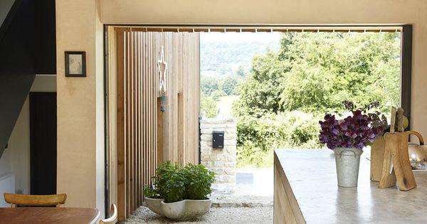 Kitchen, Large Patio Doors, Starfall Farm, Somerset, England by Invisible  Studio | 1. Photo series of Design House & Interior | Pinterest | Studios,  ... - Kitchen, Large Patio Doors, Starfall Farm, Somerset, England By