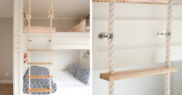 mikael monson built in bunks rope ladder children spaces pinterest loft beds wooden bunk. Black Bedroom Furniture Sets. Home Design Ideas