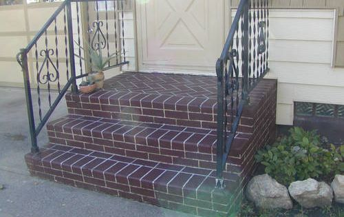 Best Faux Brick Painted Concrete Stairs Home Improvements 400 x 300