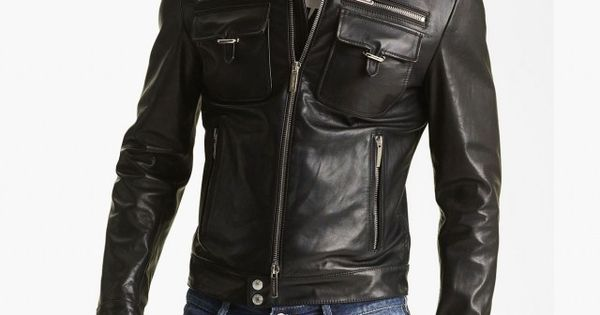 Dsquared2 'Chic' Leather Moto Jacket | Nordstrom Every guy should own a
