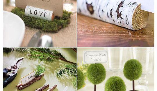 mariage rustique champ tre porte nom marque place rondin de bois mini arbre arbuste mariage. Black Bedroom Furniture Sets. Home Design Ideas