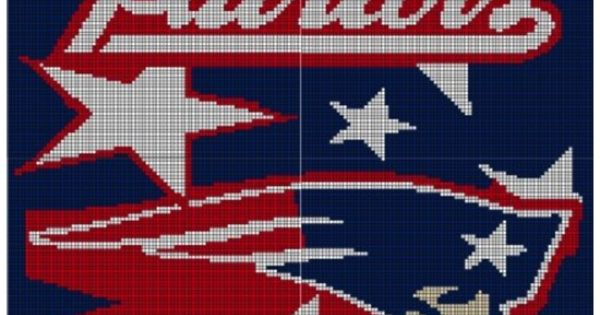 New England Patriots Crochet Afghan Pattern Graph My ...