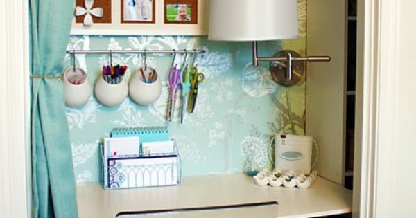 I've always loved the idea of closet desks