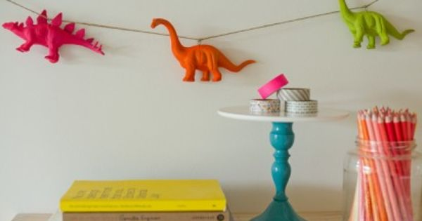 DIY Crafts: A Neon Animal Garland by Erin Loechner-Here you go STEPH