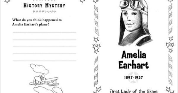 Amelia Earhart Famous American Mini Book Printables Amelia