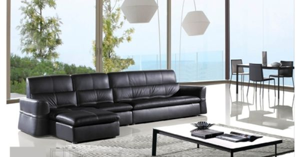 The Tompkins Italian Leather Sectional Is An Excellent Addition To Your Stylish Living Room Decor Top Quality 100 Genuine Italian Leather Up Living Room Decor Leather Sectional Room Decor