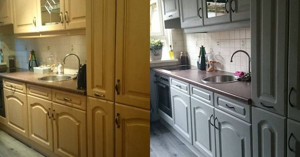 De keuken is mooi geworden ik was die stond te twijfelen wit of grijs dan weet je het misschien - Idee deco keuken grijs ...