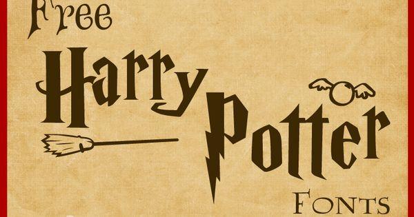 Free Harry Potter Fonts Harry Potter Font Harry Potter