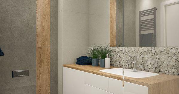 ... beige, Holzoptik, grau und Mosaik aus Naturstein, Bodenfliesen grau