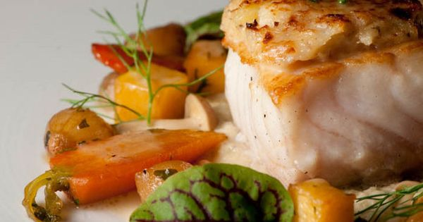 Cod Wrapped In Crispy Potatoes With A Dill And Caper Sauce Recipe ...