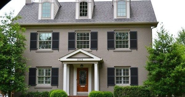 Painted Brick Exterior Paint Redecorating Pinterest