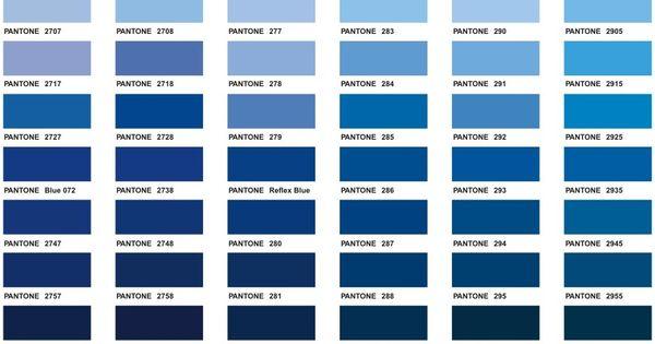 Blue Pantone Color Chart Color Blue Pinterest