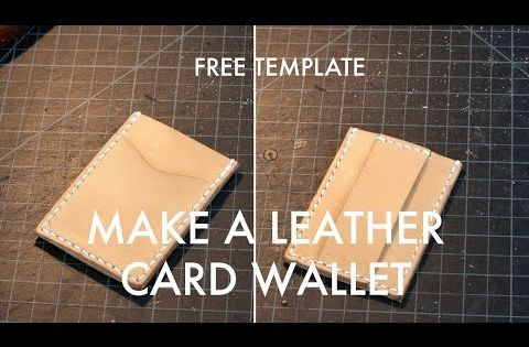 Leather Cash Strap Card Wallet Free Pdf Template Build Along Video Tutorial Makesupply Leather Wallet Pattern Leather Card Wallet Leather Craft Tutorial