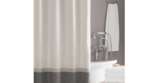Love This Curtain Pulls In The Grey Without Being Dark Wamsutta Greek Key Hotel Shower