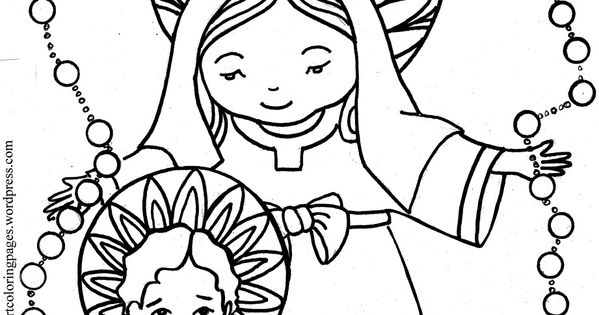 childrens rosary coloring pages | Our Lady of the Rosary Coloring page | Free printable and ...