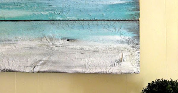 Painted Old Wood Wall Art, perfect for pallet...