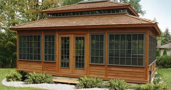 Three Season Gazebo Summerhouse Installed Or As Gazebo Kits For 3 Seasons Of Backyard Enjoyment Gazebo Screen House Summer House