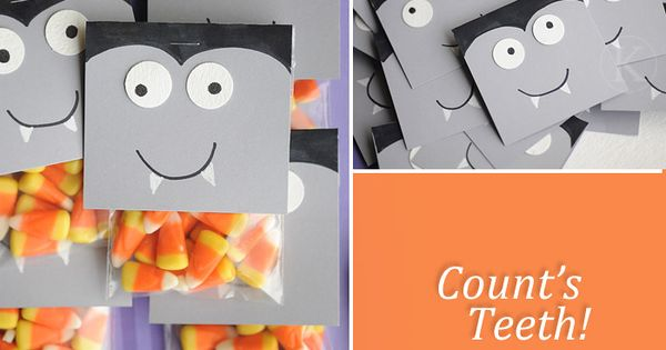 HALLOWEEN -- 'Count's Teeth' goodie bag.