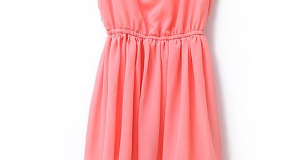 sequined pink chiffon dress