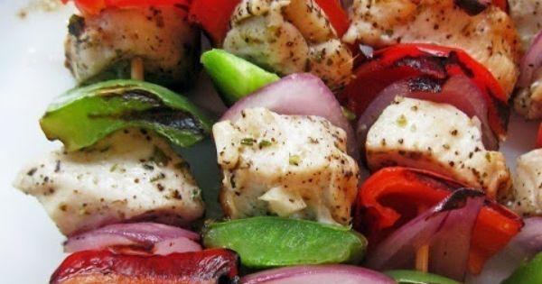 Marinated Greek Chicken Skewers Recipe recipes foods dinner