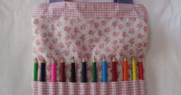 Bolsa Para Lapis Em Tecido : Bolsa infantil com bolso externo porta l?pis de cor ideal