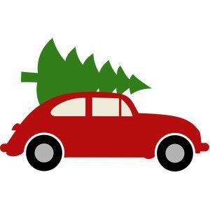 Silhouette Design Store Christmas Tree Car Christmas Car Watermelon Carving Silhouette Design