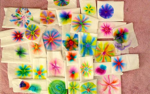 Make your own fabric design! Sharpie Tie Dye - 1. Get a
