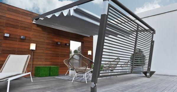 ... terrasse avec auvent retractable et brise-vue  Deco and Design