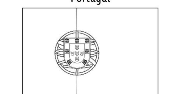 Portugal flag to color w henry the navigator lesson for Portugal flag coloring page