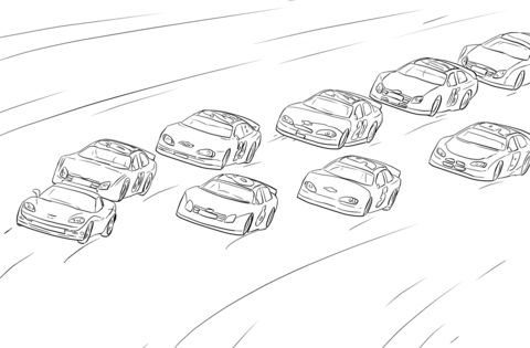 Nascar Racing Coloring Page From Nascar Category Select From