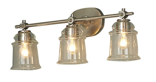 Shop Allen + Roth 3-Light Winsbrell Brushed Nickel