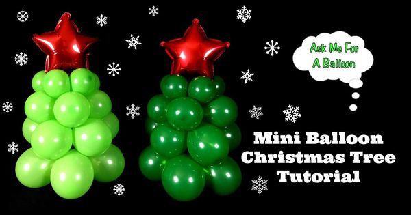 Mini balloon christmas tree decoration tutorial by ask me for Balloon decoration ideas youtube