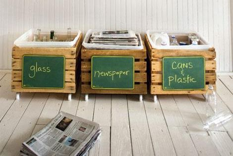 Homemade Recycling Bins - Click image to find more DIY Crafts Pinterest
