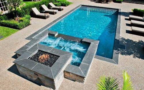 Swimming Pool Designs With Hot Tub | Home Designs Wallpapers