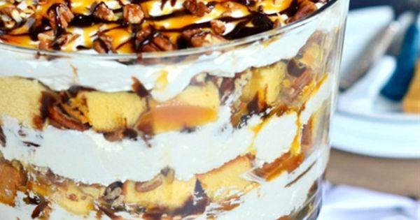 Turtle Cheesecake Trifle   LUSCIOUS BOWLS   Pinterest ...
