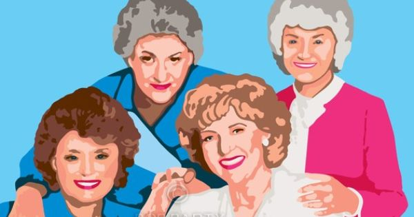 Golden Girls Paint By Numbers Kit. My birthday is August 1st in