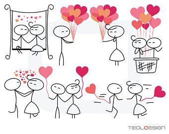 Palillo Figura Svg Eps Png Personas Amor Boda Pareja Linda Dibujos De Amor Manualidades Dibujo De Munecos