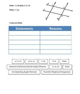 Transversal Proofs Reasoning And Examples Teaching Geometry