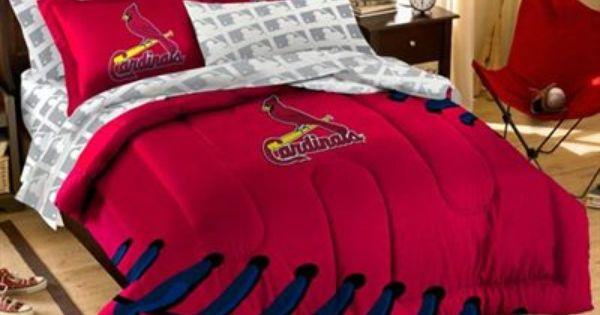 St Louis Cardinals 7 Piece Full Size Bedding Set Comforter Sets