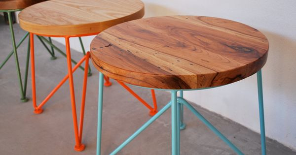 "GARZA FURNITURE, 18"" STOOL: they also have cool tables, chairs, benches, etc."